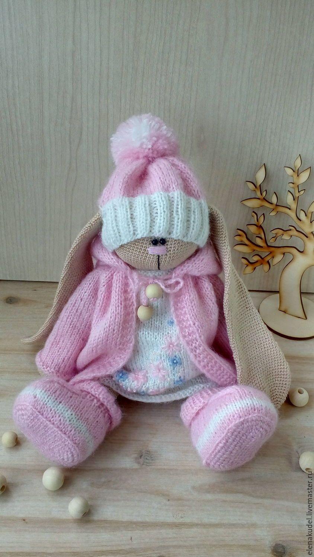 купить вязаный заяц тильда комбинированный заяц заяц тильда