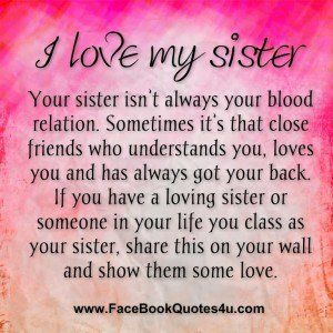 Love My Sister Quotes For Facebook Sisters Pinterest Sister