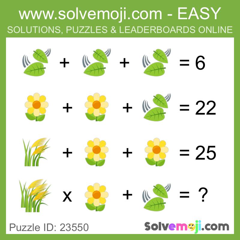 Solvemoji - Emoji Math Puzzles & Games | Math stuff | Maths