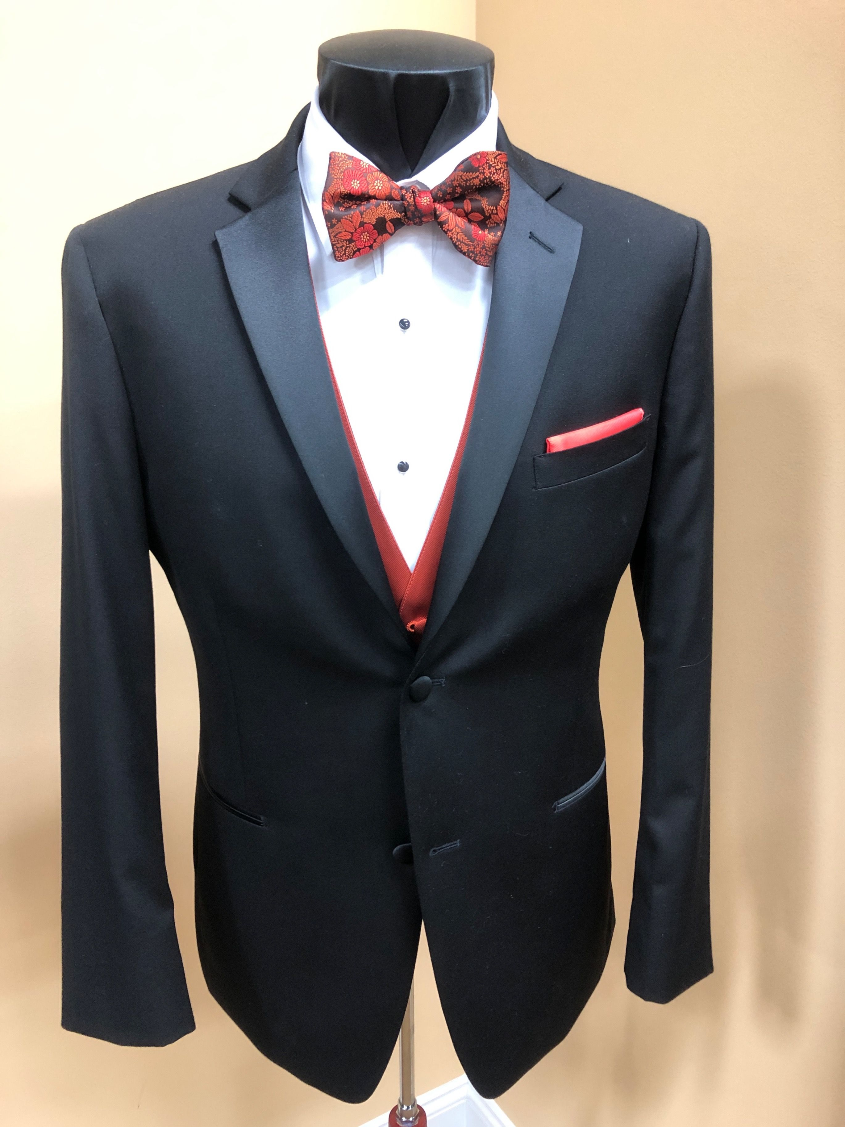 We have Halloween colors for your tuxedo rental with