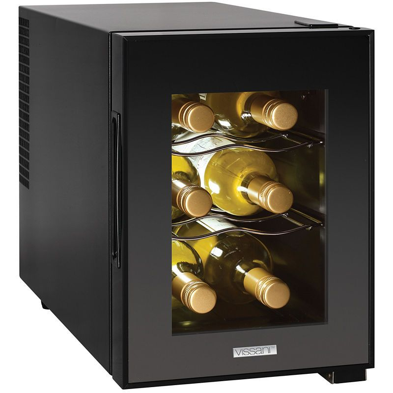 Magic Chef 6 Bottle Countertop Wine Cooler Mini Wine Fridge