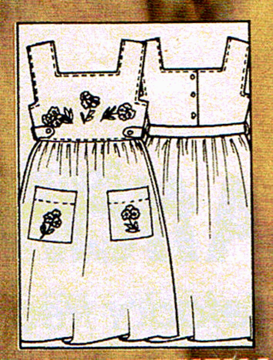 Patrones descargables de vestido talla 4 años. | costura | Pinterest ...