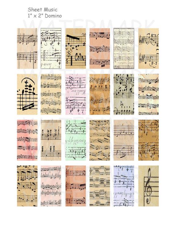 40% Off Sale Sheet Music Digital Collage Sheet 1 x by OldMarket
