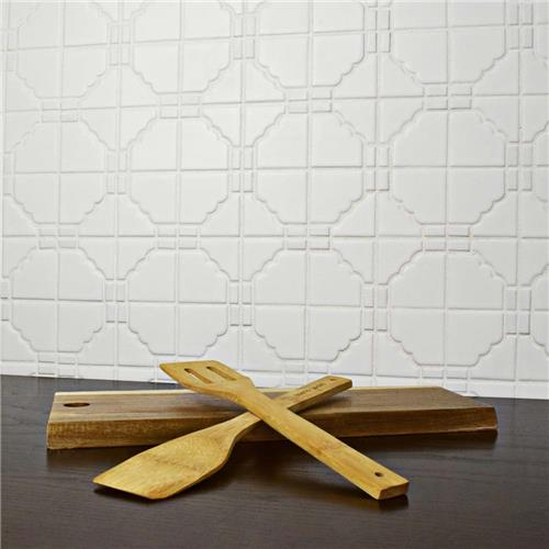 Osaka Matte White 11 3 4 X11 3 4 Porcelain Mosaic With Images Porcelain Mosaic Mosaic Tiles Glass Tile Crafts