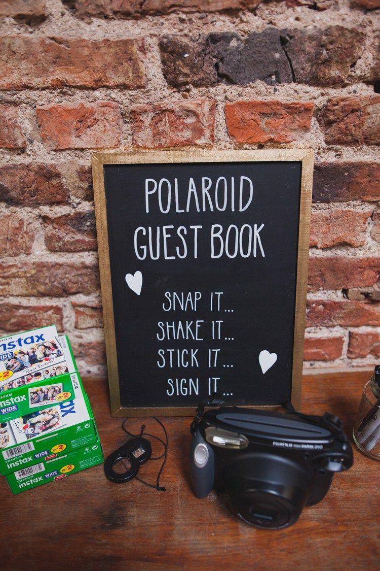 Polaroid Guest Book Photos Instax Indie Rustic DIY Fun Wedding Party http://www.sallytphotography.com/