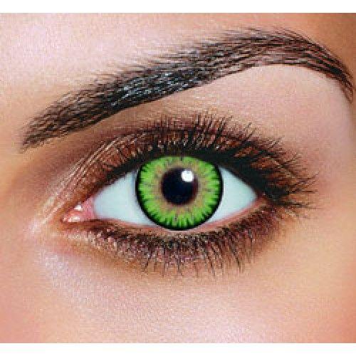 Triple Colour Green Contact Lenses (Pair)