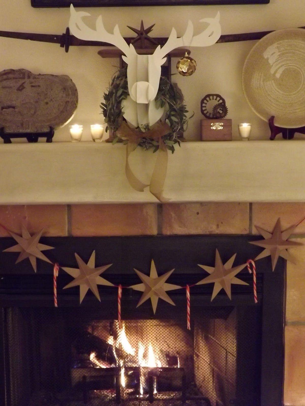 Paper reindeer head tutorial reindeer antler template christmas