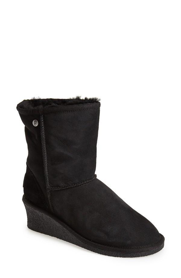 bafe35c12762  Savannah II  Genuine Shearling Wedge Boot (Women)  comfortable walking  boots for women. For a confident walk.