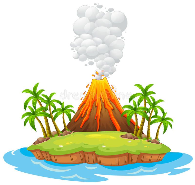 Volcano Island Volcano On An Island With Smoke Affiliate Volcano Island Smoke Ad Volcano Islands Volcano Drawing Volcano