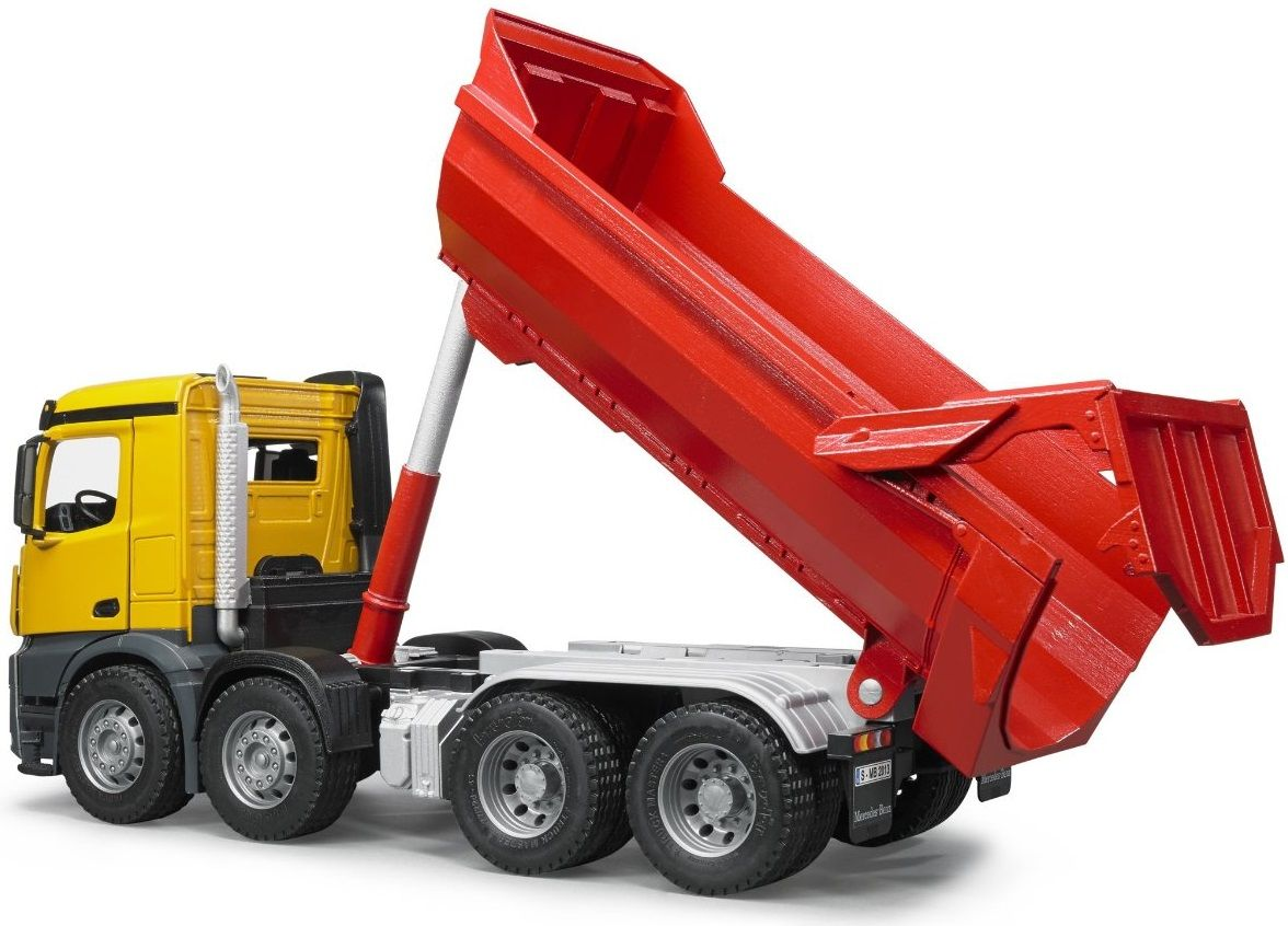 The Mb Arocs Halfpipe Dump Truck From The Bruder Truck Collection Discounts On All Bruder Toys At Wonderland Models One Of Our Trucks Dump Truck New Trucks