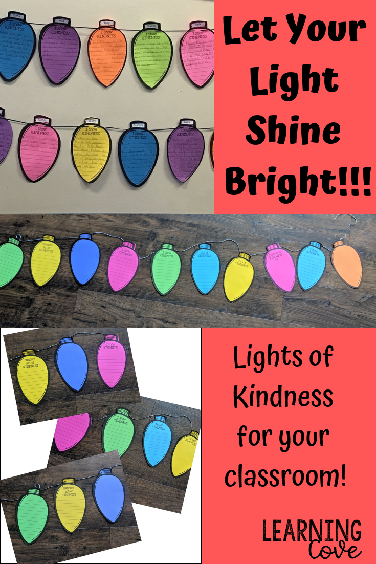 Lights of Kindness - Holiday Craft and Writing Activity - Digital and Paper!