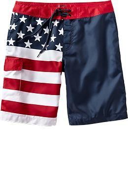 ba75cba763 Mens Flag-Print Board Shorts (10