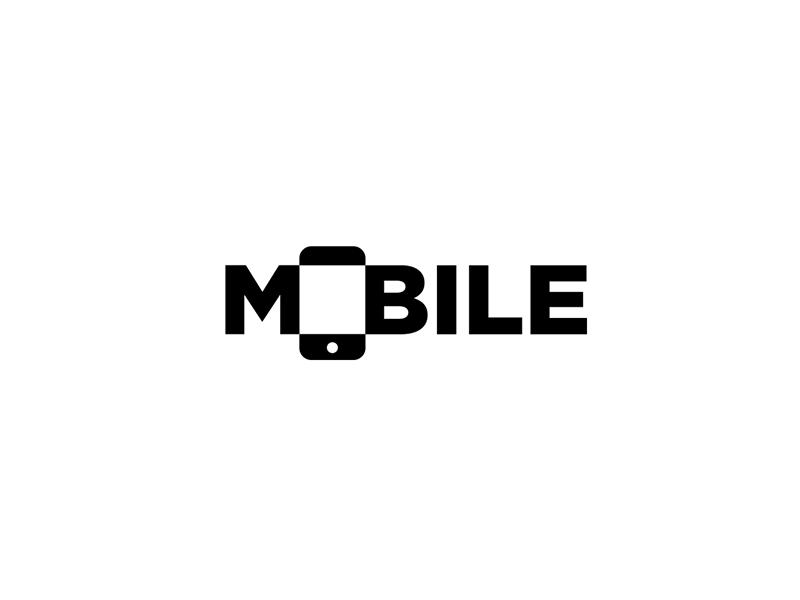 Mobile Logo Wordmark Mobile Logo Typographic Logo Design Text Logo Design