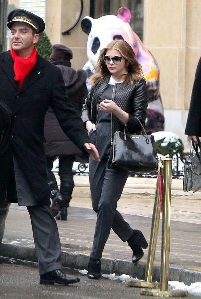Chloe Moretz leaves her hotel in Paris The Plaze Athenee