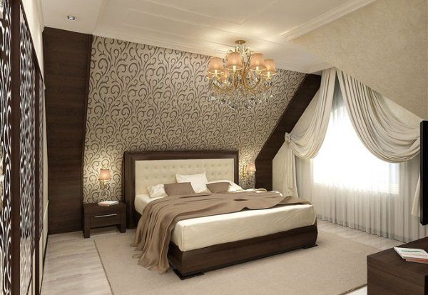 спальня дизайн на мансарде фото