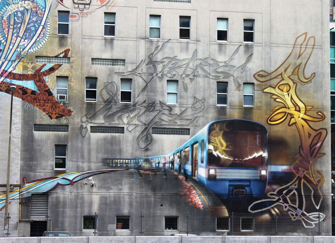 global street art the mission old brewery mural by jasmin the mission old brewery mural by jasmin guerard alie and simon bachand in montreal canada via global street art