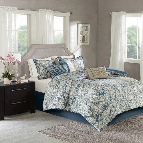 Madison Park Apartments California: Madison Park 7-piece Lira Comforter Set