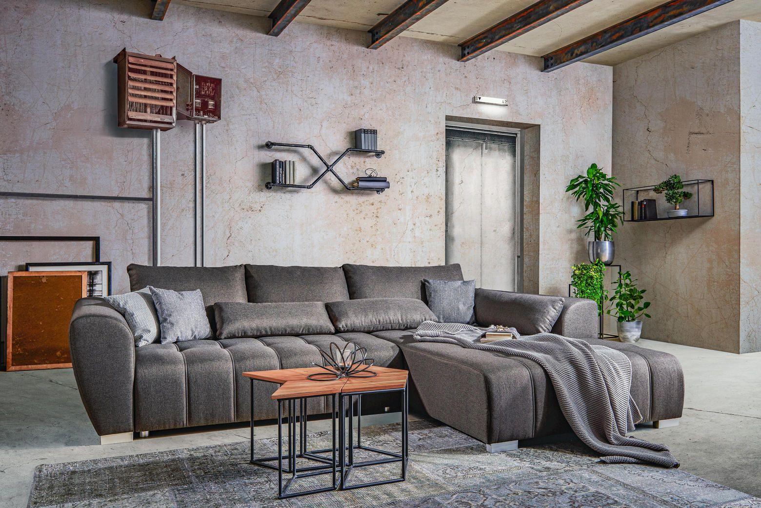 Wohnlandschaft Mit Schlaffunktion In Grau Kaufen Wohnen Wohnzimmer Ideen Haus Deko
