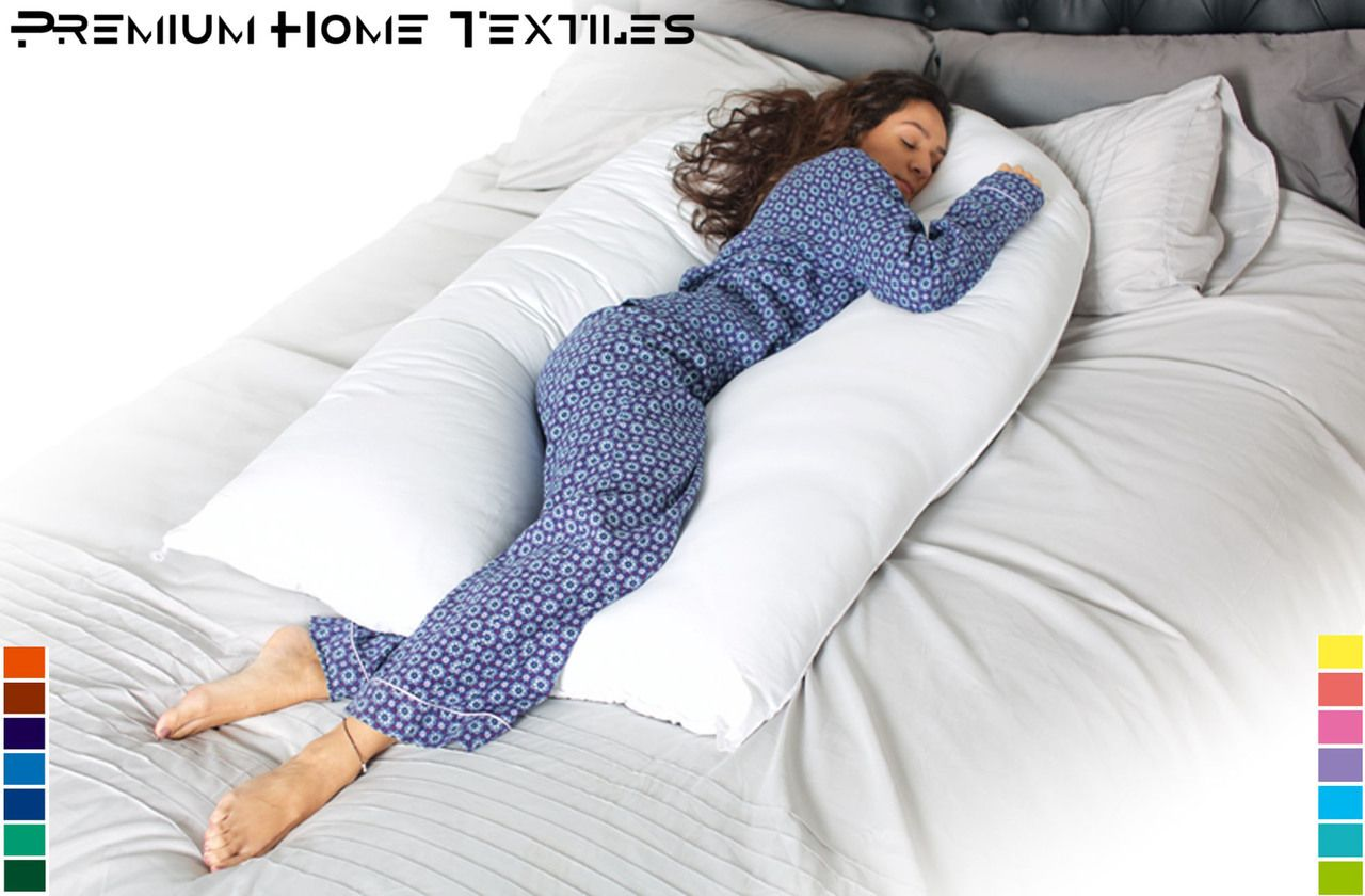 Pregnancy Comfort U V Pillow And Case. All sizes available in 9ft,10ft and 12ft. Maternity pillows are filled with Premium Graded Hollow Fibre.
