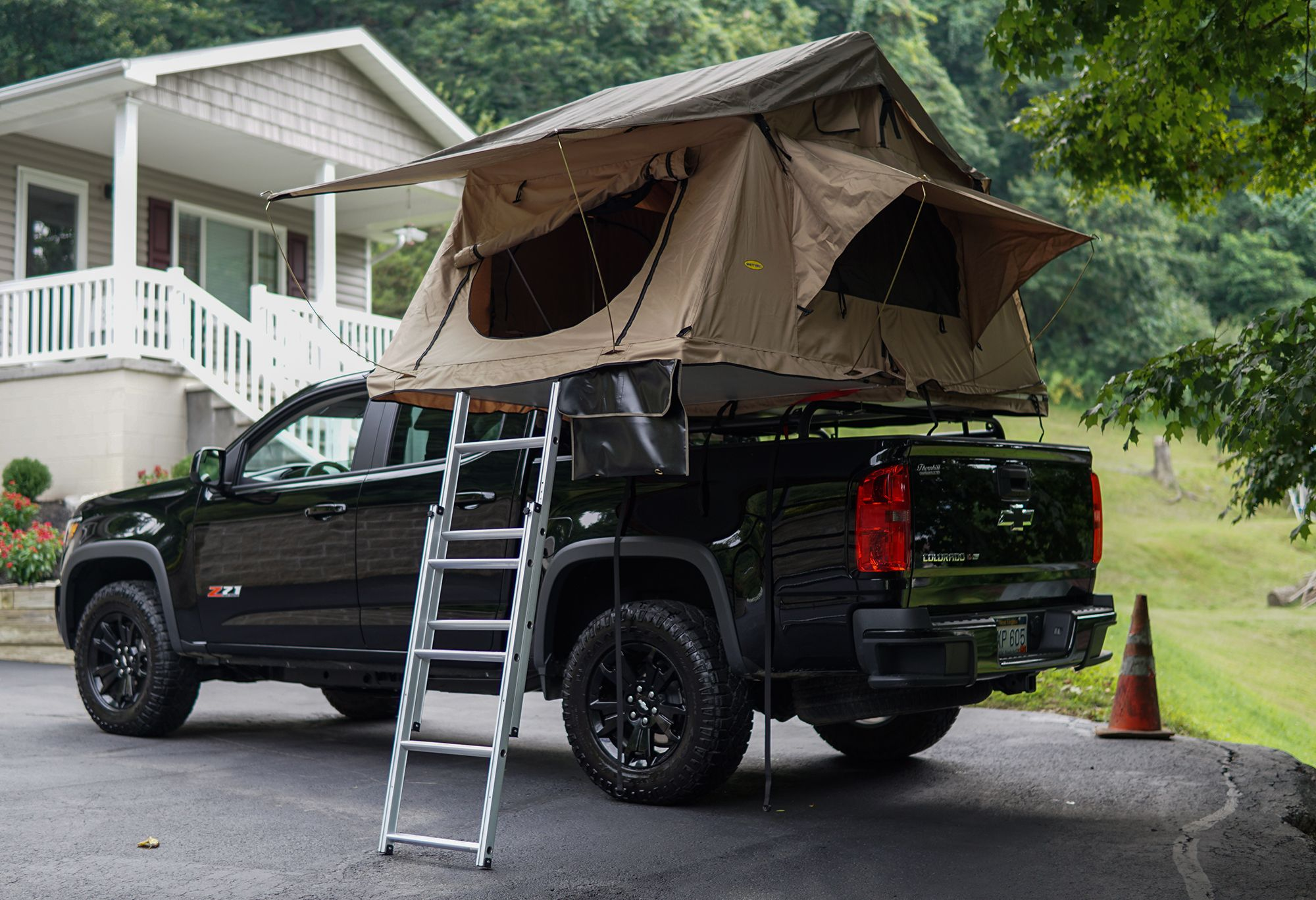 Low Profile Over The Bed Rack Truck Bed Tent Roof Top Tent Truck Bed