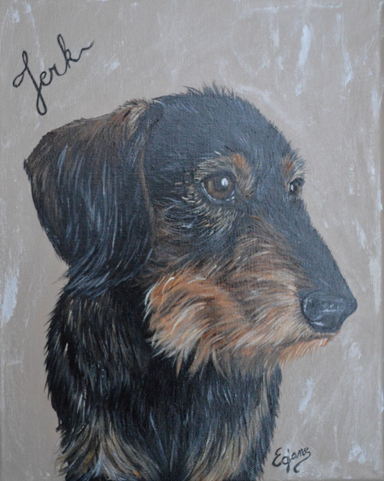 Galerie Des Commandes Teckel Poil Long Chien Teckel Peintre Animalier