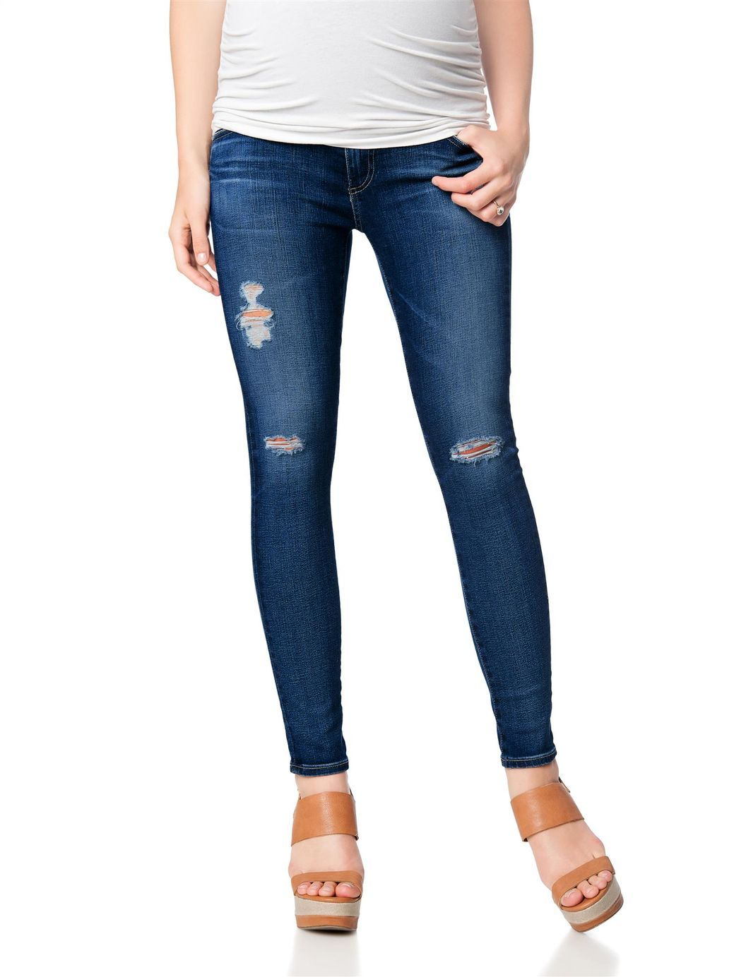 446be089ed11b AG Secret Fit Belly Destructed Legging Ankle Maternity Jeans, 11 Yr Swapmeet