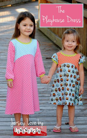 The Playhouse Dress - paper pattern from Fishsticks Designs | Simplifi Fabric