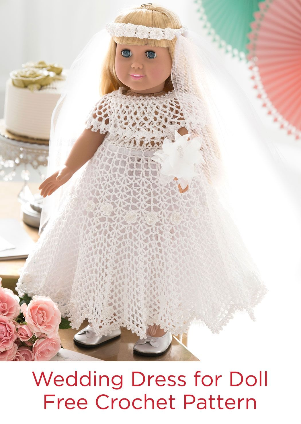 Wedding dress for doll free thread crochet pattern in red heart wedding dress for doll free thread crochet pattern in red heart classic crochet thread size 10 bankloansurffo Images