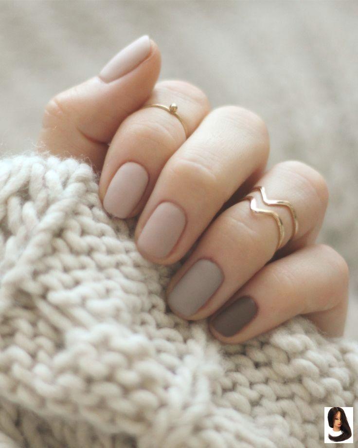 Photo of #matte Nails #nackte #Nägel Nude nails        Nude beige braune einfache kurze …