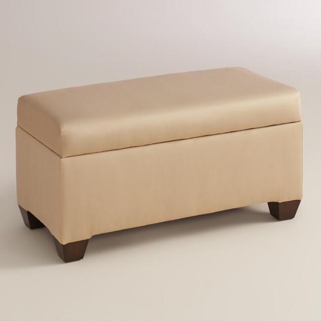 Best Micro Suede Pembroke Upholstered Storage Bench V1 640 x 480
