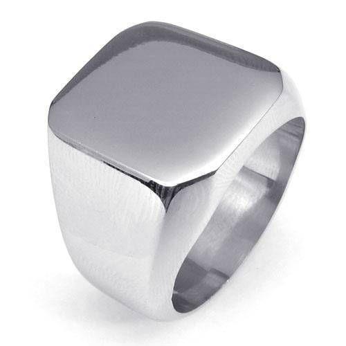 Anillos sortijas en plata y oro couleur de titanio acero inoxidable para hombre
