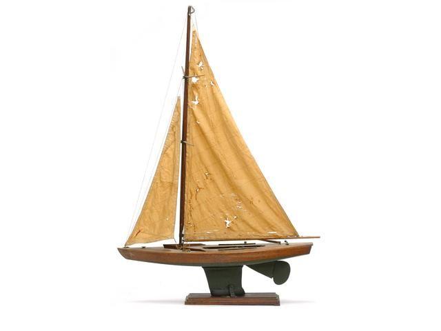 Roger Voilier De Bassin Coque En Bois Pont A Lamelle Colle Quille Metal Garniture Laiton Deux Voiles Outdoor Gear Yacht Boat Yacht