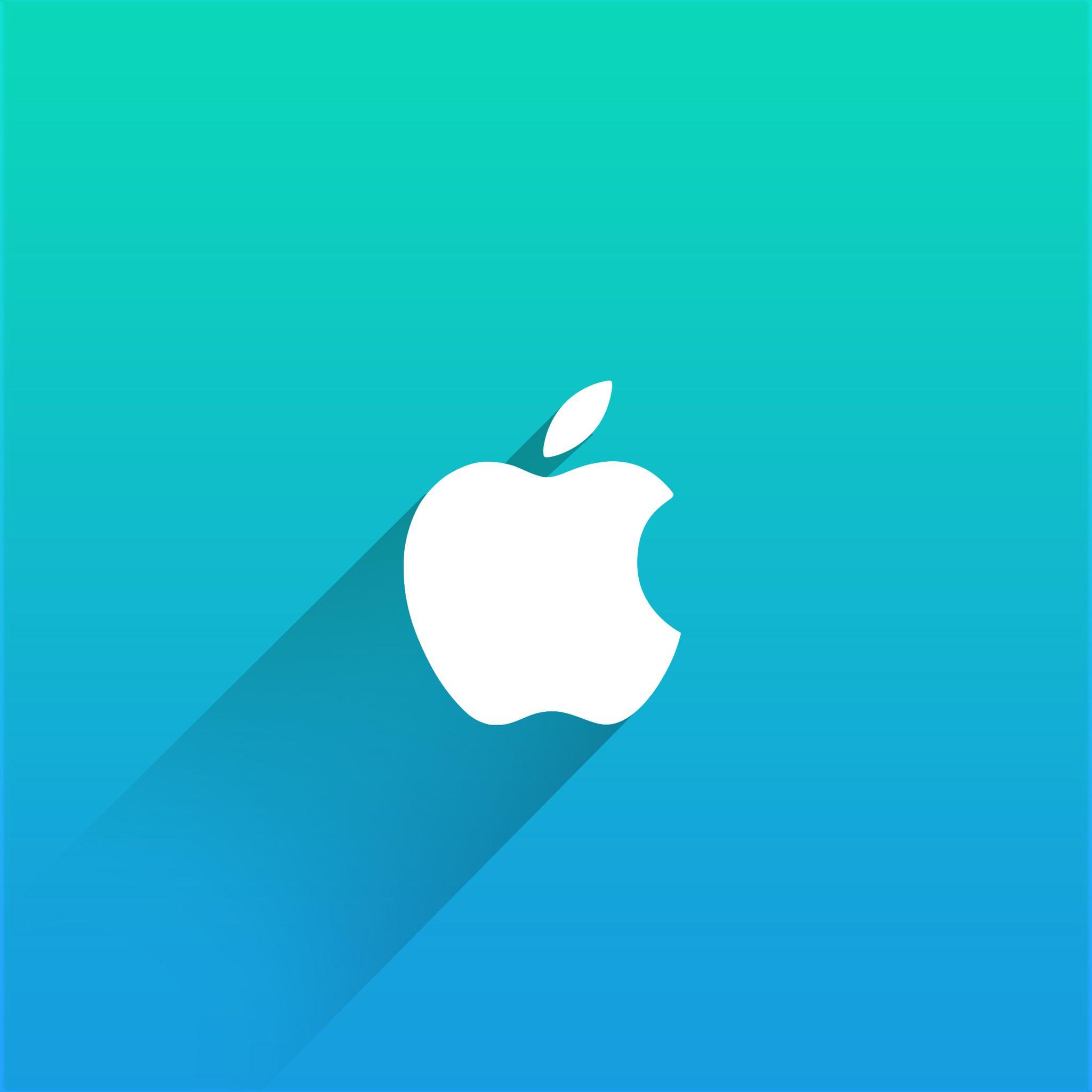 FLAT DESIGN WALLPAPER Ipad Wallpaper Retina Apple Logo Wallpapers Blue