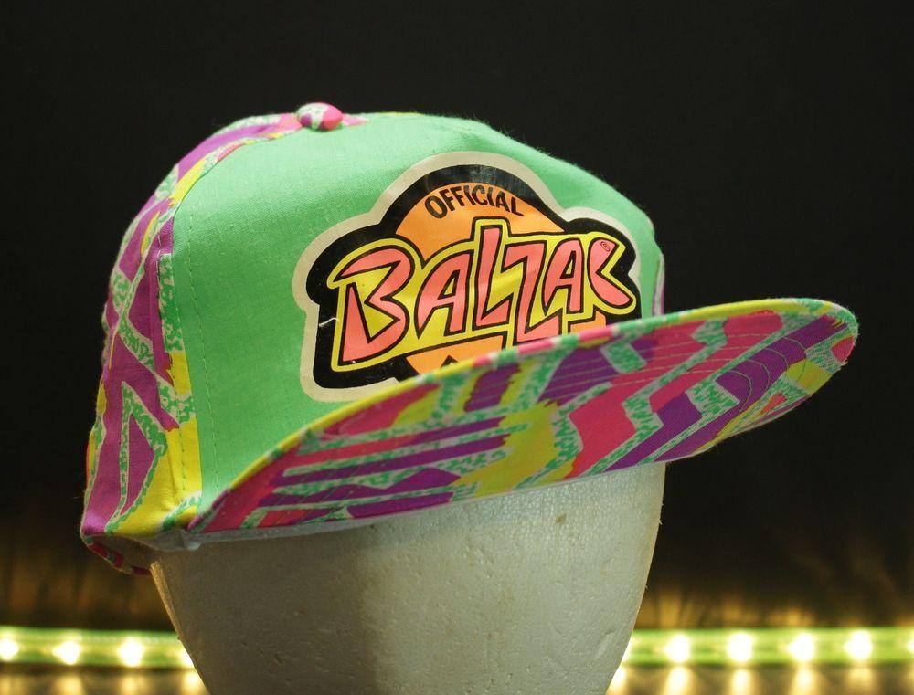 b36e41e063e6b0 Vtg Balzac Snapback Hat Cap Retro Balloon Ball Hip Hop Bright Loud Urban  Green #CatcoInc #BaseballCap