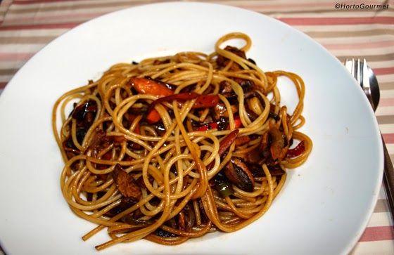 Espagueti Con Verduras Y Salsa De Soja Receta Hortogourmet Espagueti Con Verduras Pasta Con Calabacin Salsa Para Espagueti
