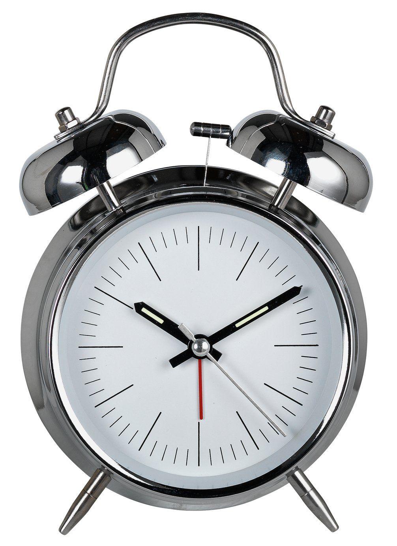 Constant Twin Bell Alarm Clock Silver In 2020 Alarm Clock