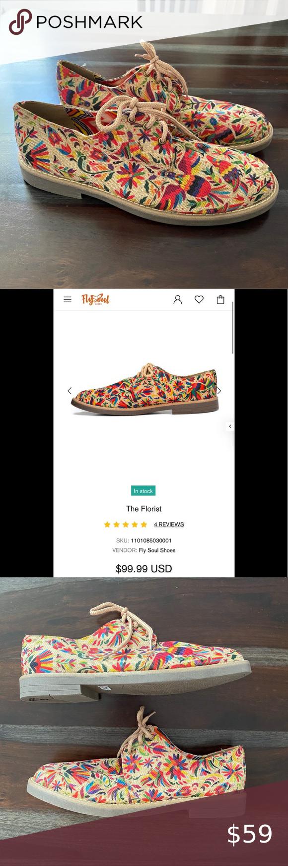 Fly Souls hemp shoes the florist size 8