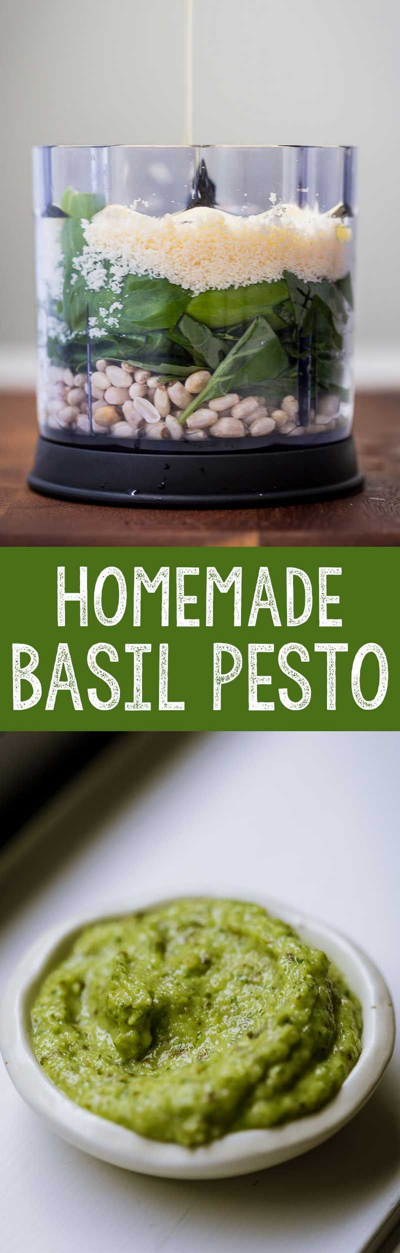 Quick & Easy Homemade Basil Pesto
