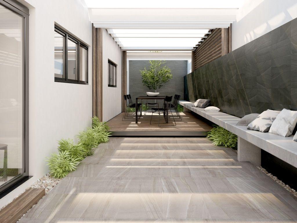 Imagen de pisos y azulejos deexteriores terrazas for Azulejos para patios exteriores