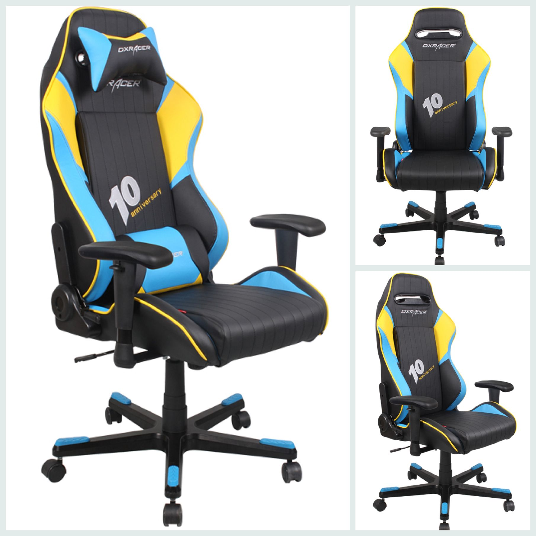 Hot Selling Chair Df53nby Black Yellow And Blue Colorshot