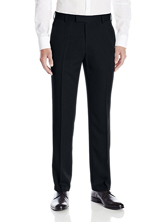 Kenneth Cole Reaction Mens Urban Heather Slim-Fit Flat-Front Dress Pant
