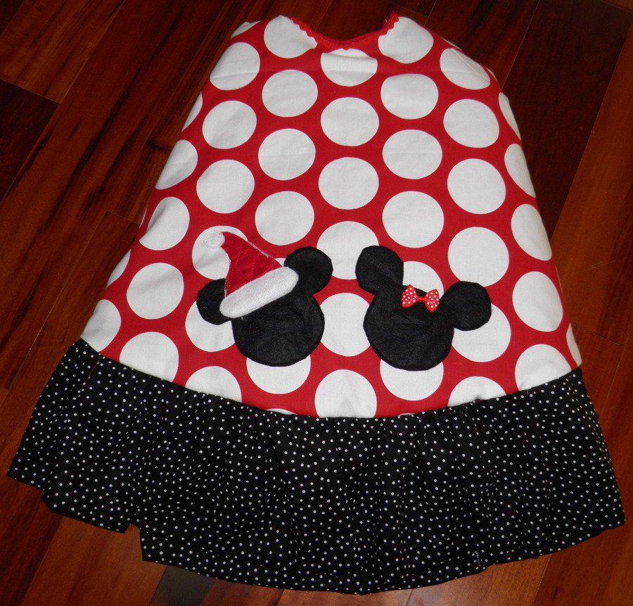mickey minnie mouse boutique christmas tree skirt red white polka dot 52 4999 - Disney Christmas Tree Skirt