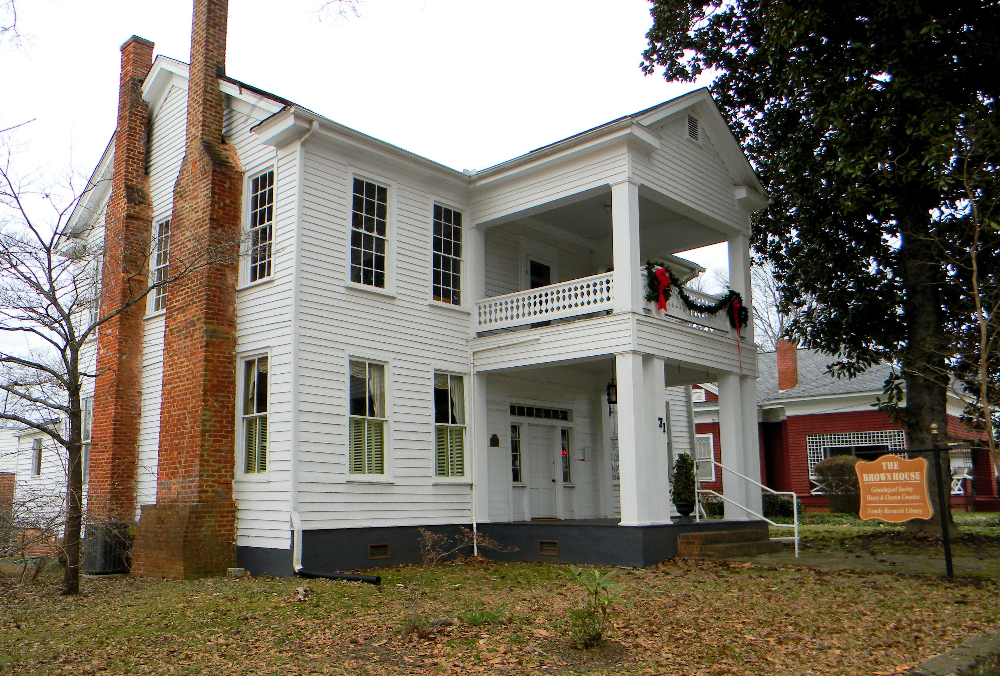 the brown house locate at 71 macon st., mcdonough ga. home of the