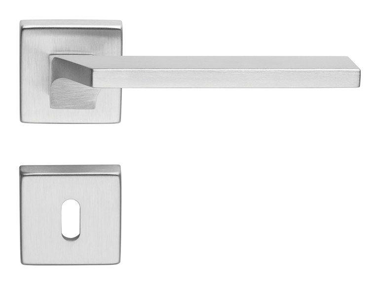 Giro Zincral Door Handle With Lock By Linea Cali Door Handles Door Handle With Lock Brass Door Handles