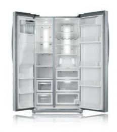 Samsung Rs267tdrs 25 5 Cu Ft Side By Side Refrigerator Twin