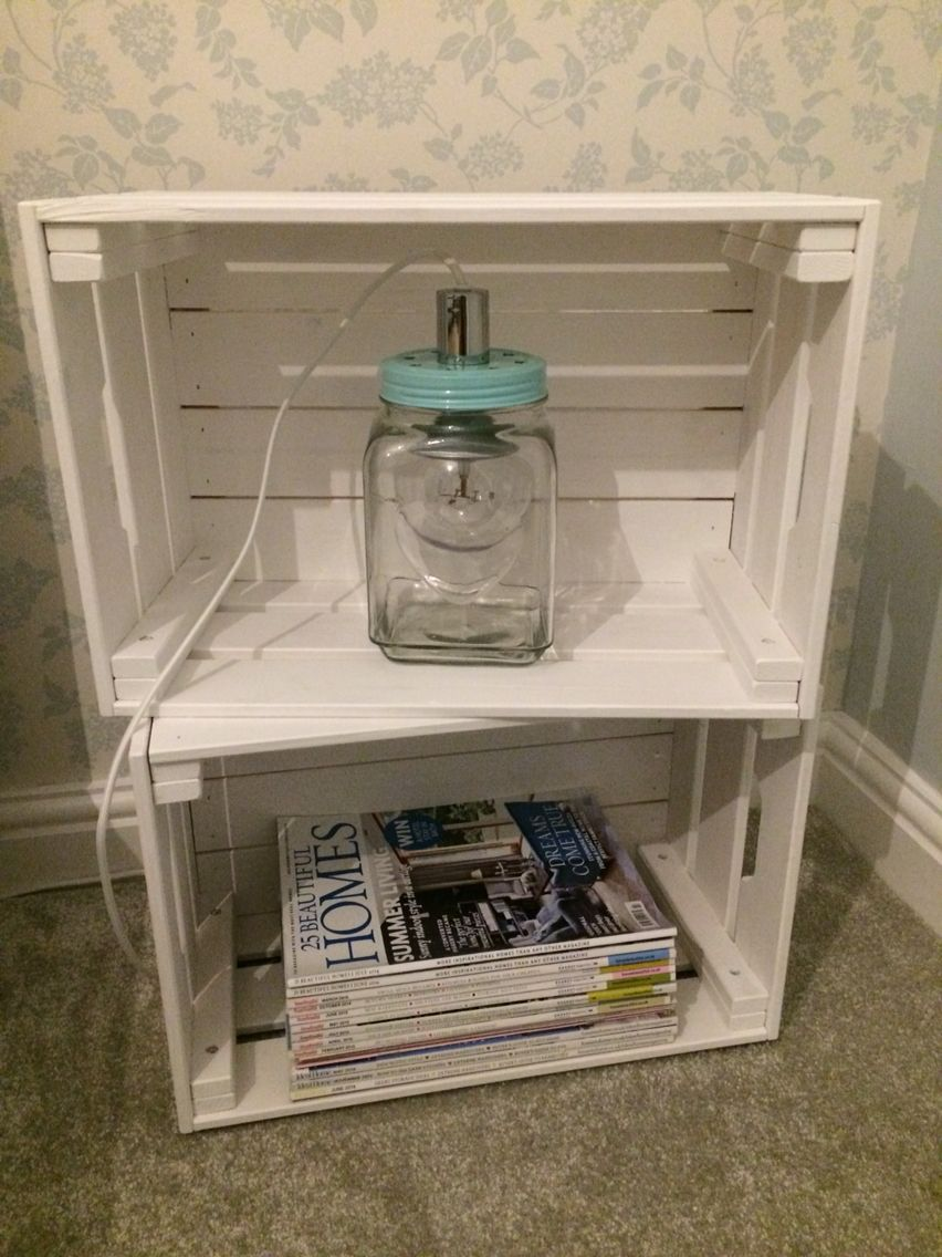ikea knagglig crates (painted white) ebay heart cookie jar class