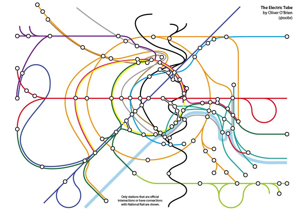 london underground and rail map pdf