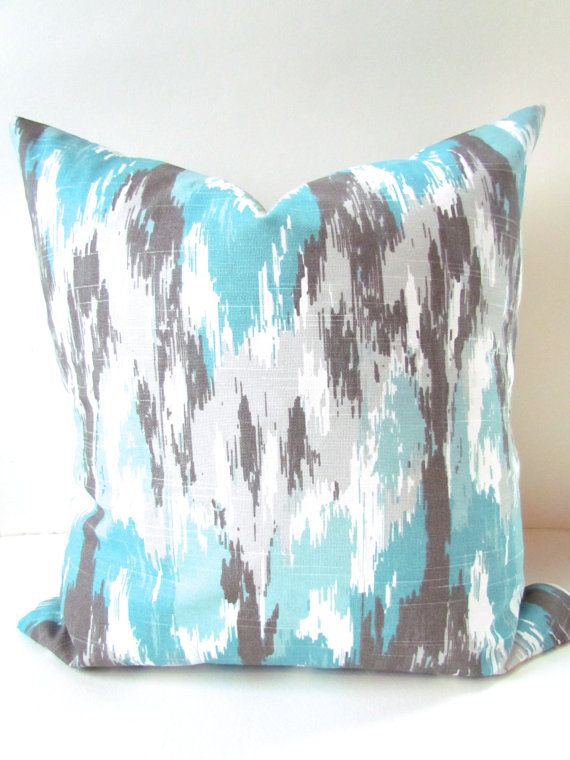 BLUE PILLOWS Aqua Turqouise Pillow Covers Mint Pillows Turquoise Extraordinary Brown And Turquoise Decorative Pillows