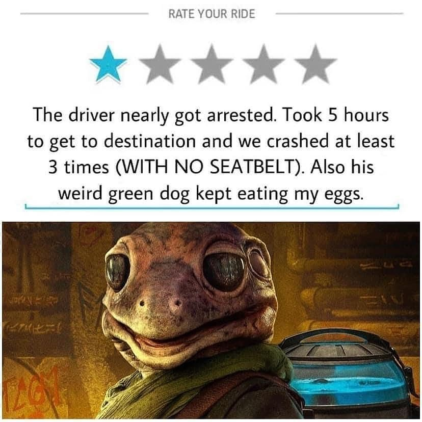 """Star Wars Content!! on Instagram: """"Worst Uber ever – Follow @darth.lore for more!! Follow @darth.lore for more!! – Also go check out my pal: @the.cantina.club -"""""""