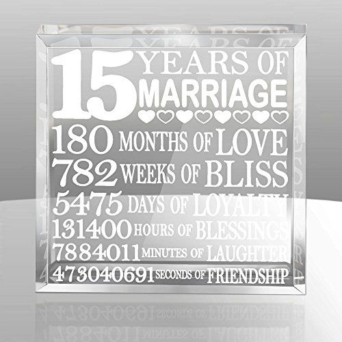 Wedding Anniversary Gifts For Her: 15th Wedding Anniversary Crystal Gifts